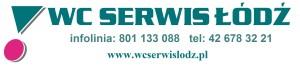 logo wc serwis, strona, infolinia